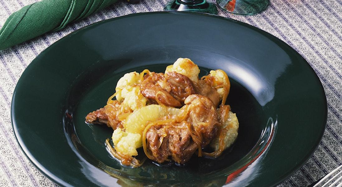 鶏肉のグレープフルーツソース煮