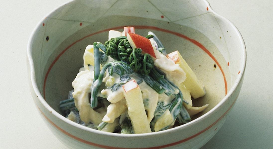 山菜のわさびマヨネーズ和え