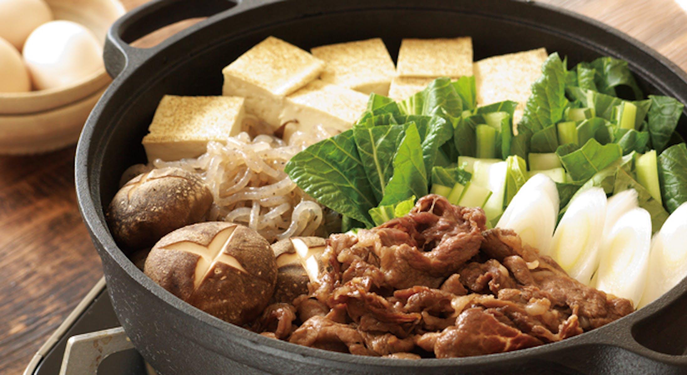 牛肉と小松菜のすき鍋