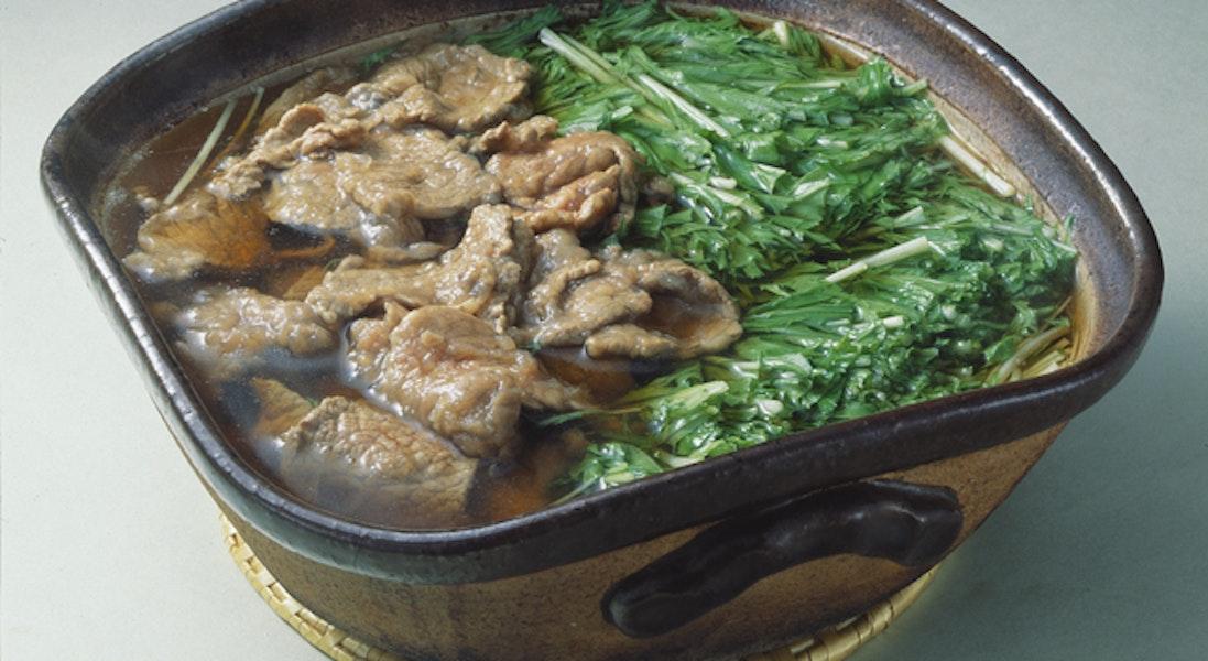 牛肉と水菜のハリハリ鍋風