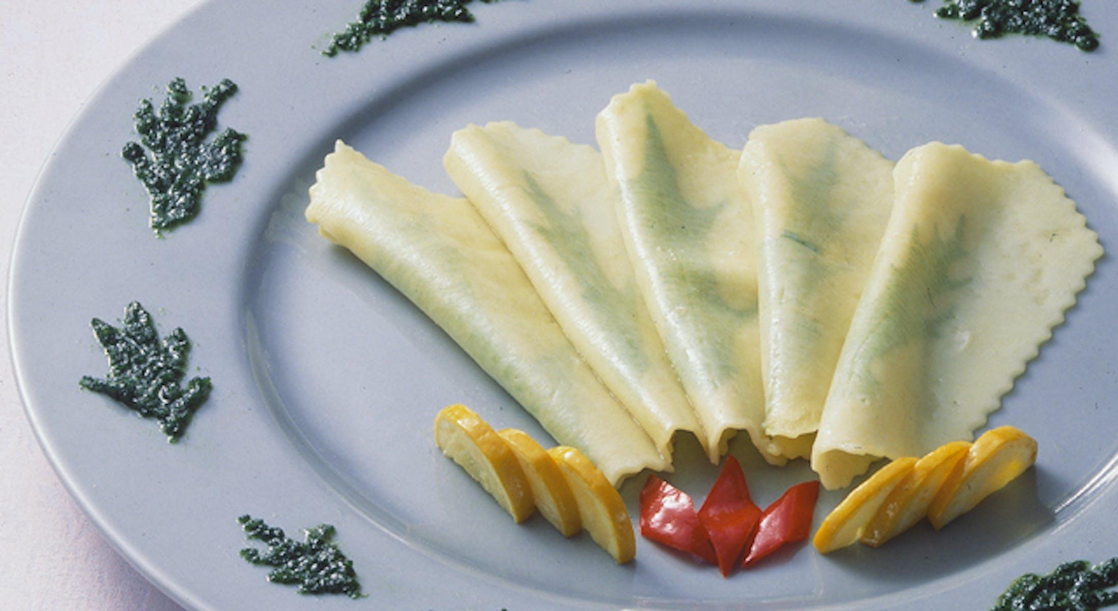 水菜のパスタジェノバペースト