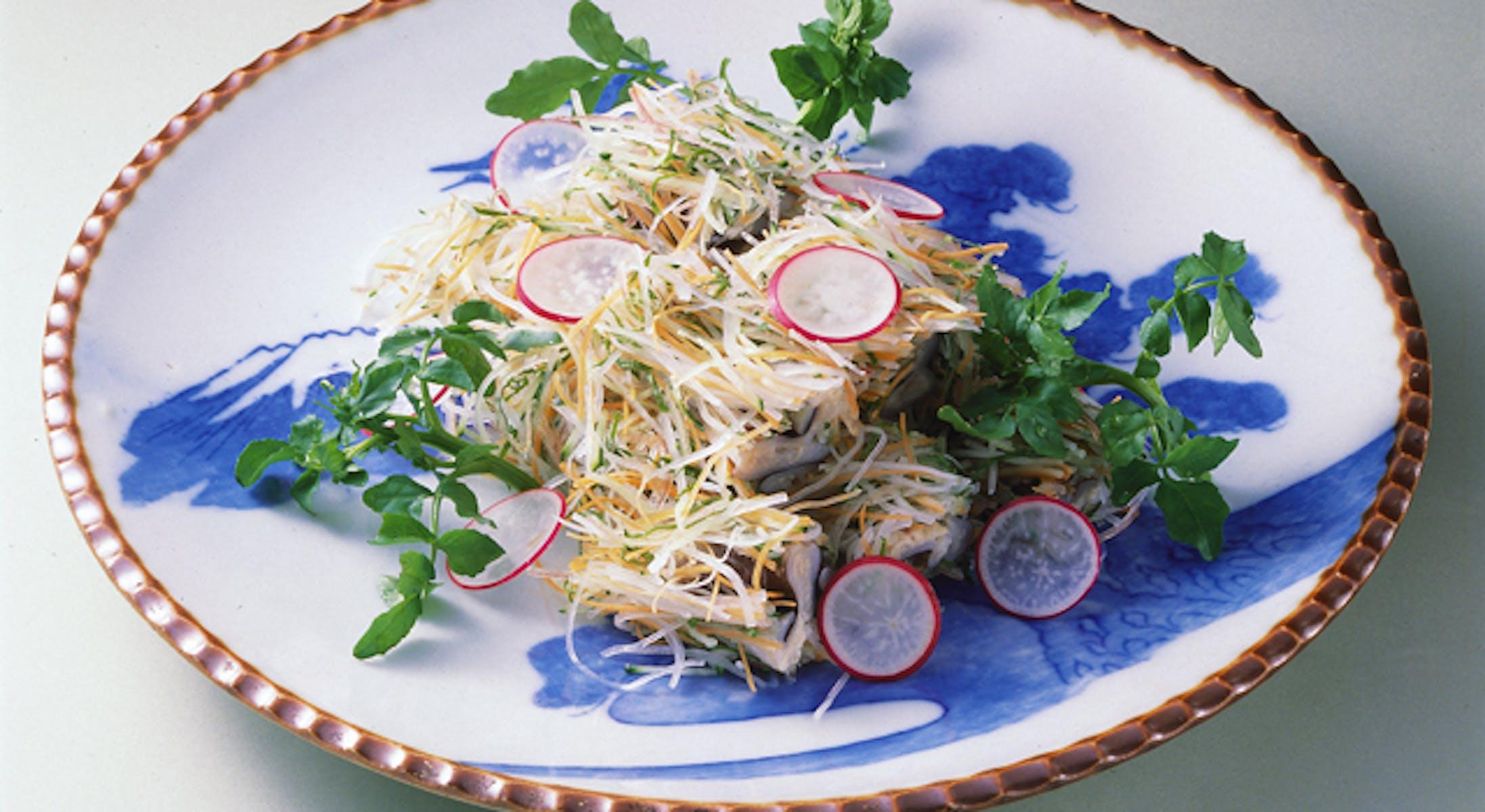とり貝の野菜巻き