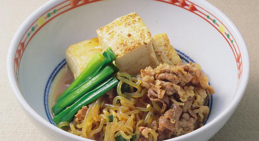 牛肉と糸こんにゃくのすき焼き風(すき焼き煮)