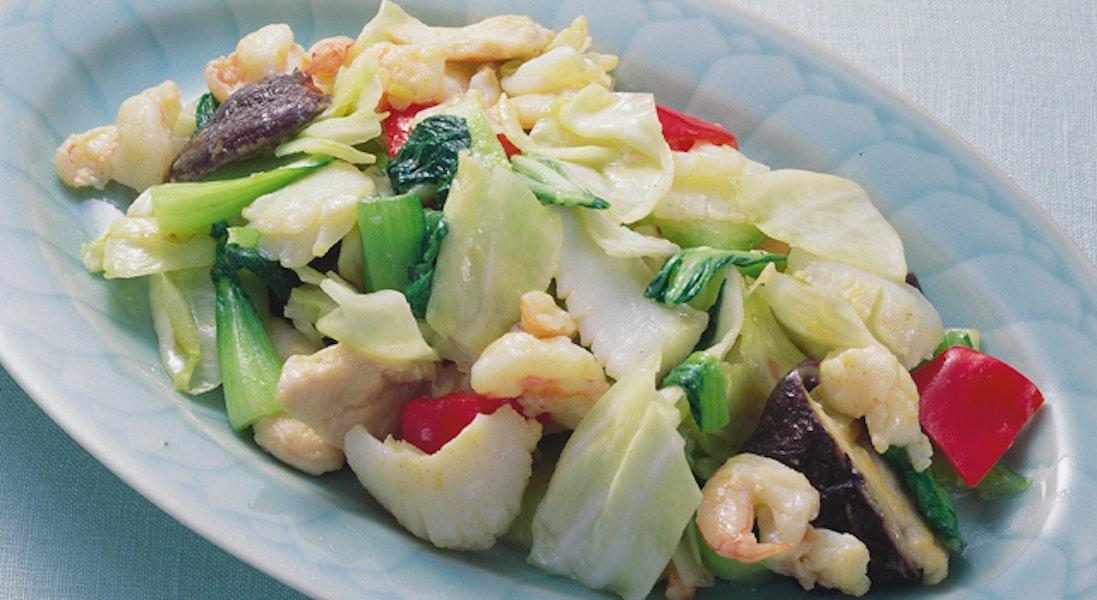 魚介と野菜の炒め物