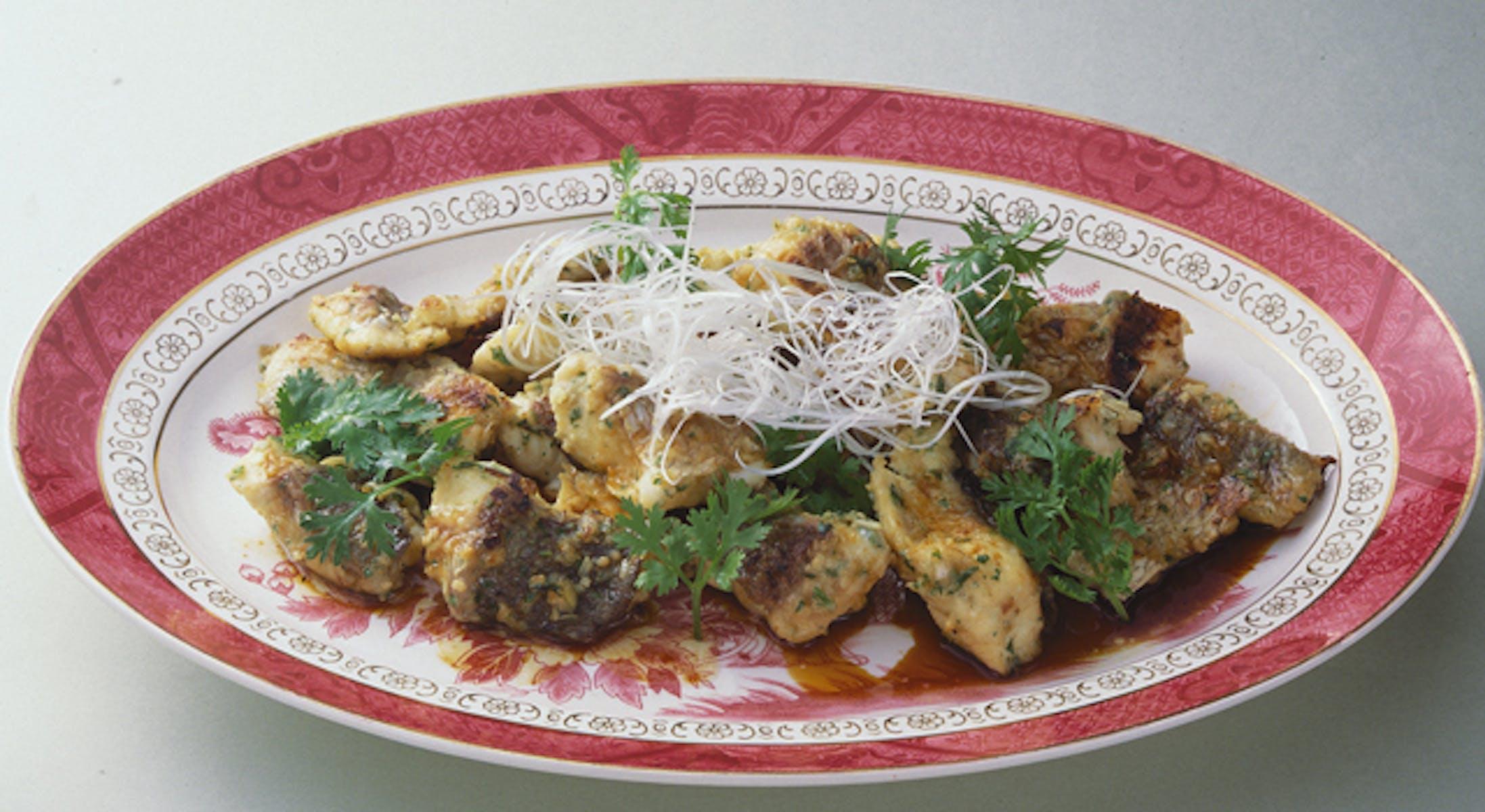 鯛の中華風香草焼き