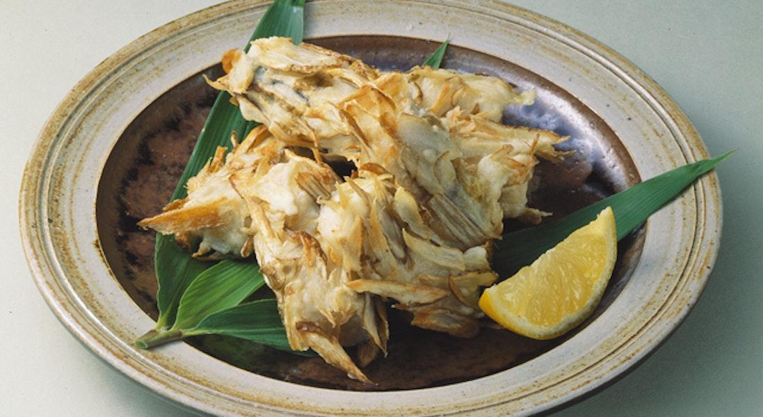 白身魚のごぼうのみの揚げ