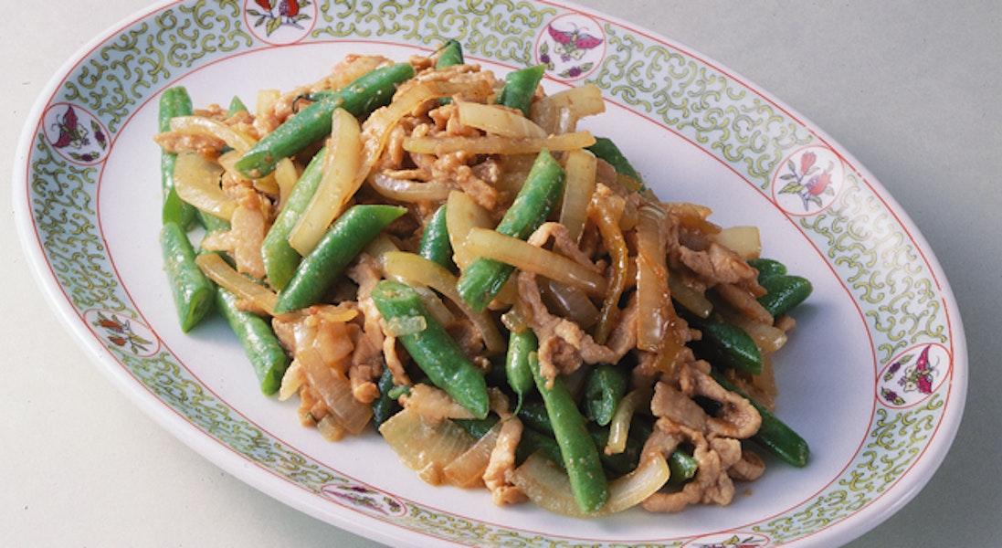 玉ねぎと豚肉の中華風炒め物