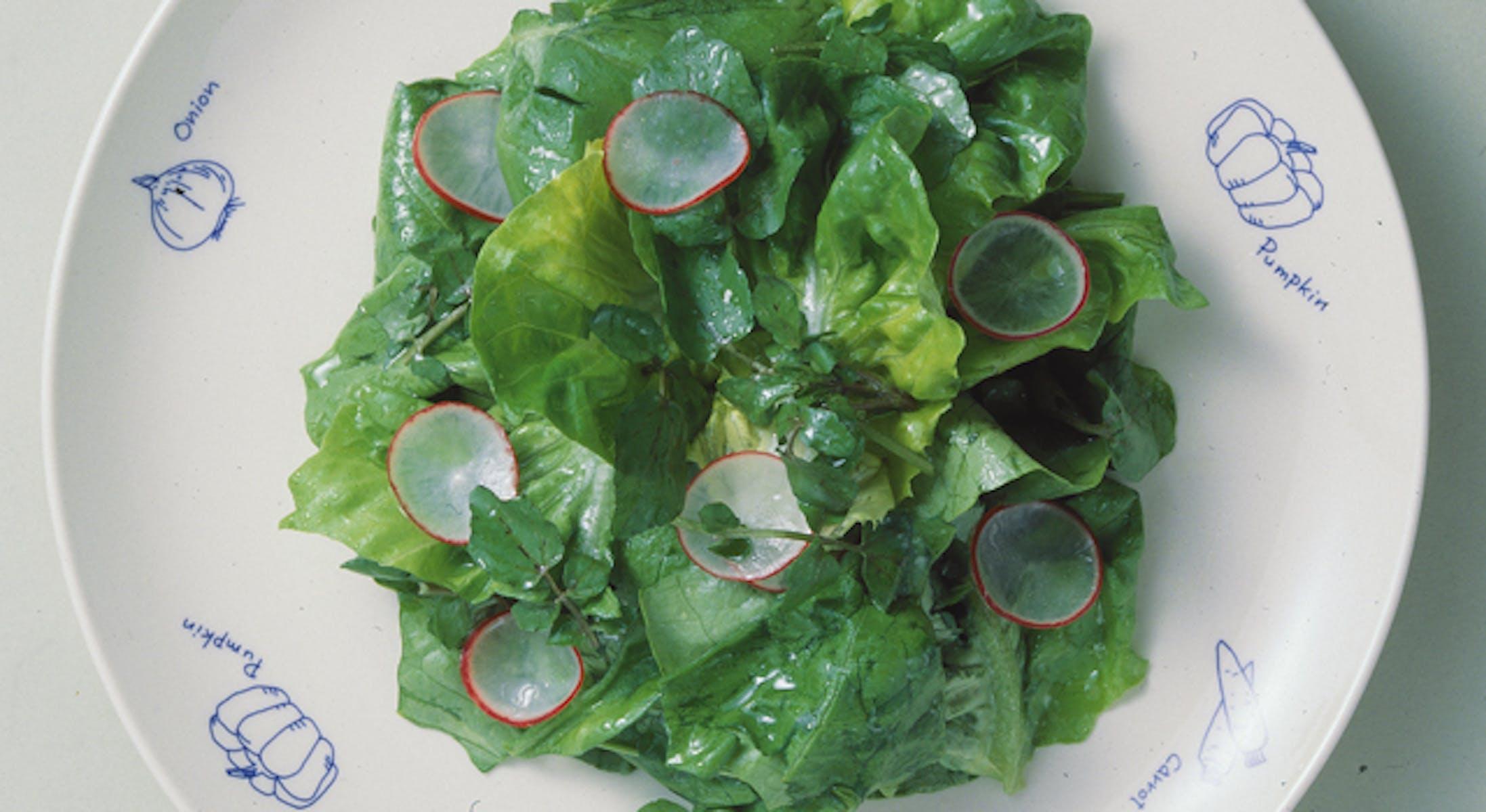 サラダ菜とクレソンのサラダ