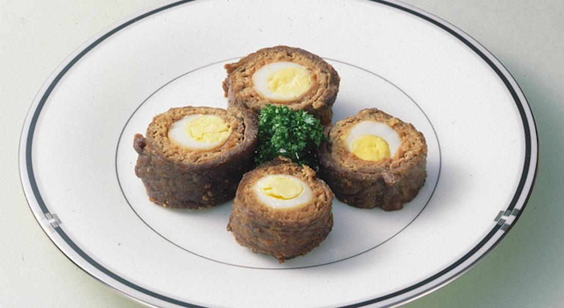 うずら卵の牛肉巻き揚げ