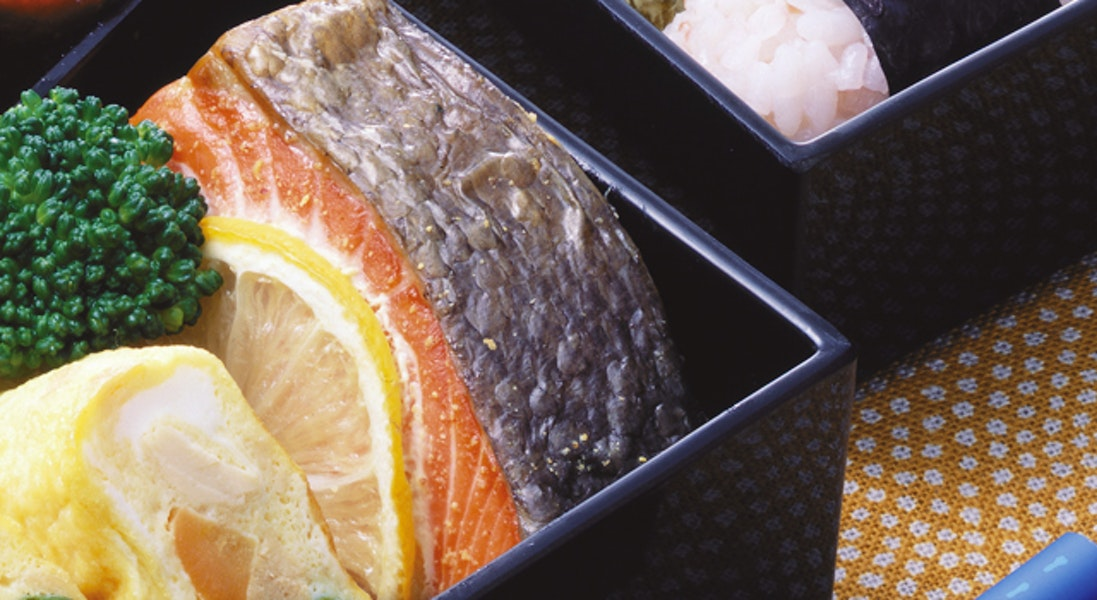 鮭のレモン風味
