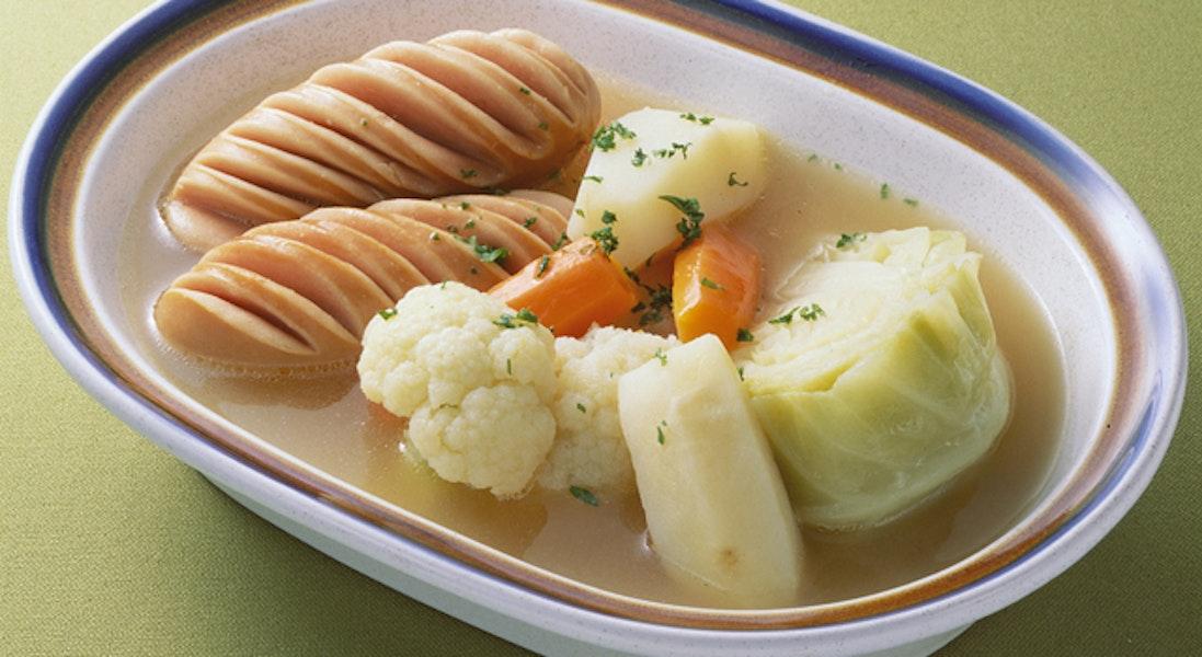 ソーセージと野菜のスープ煮