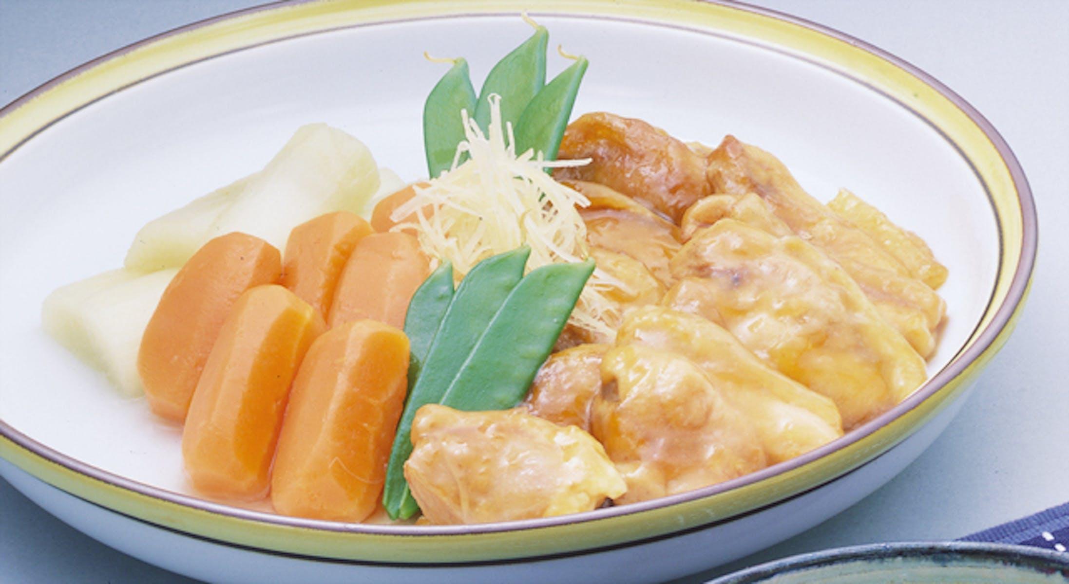 鶏と野菜の炊き合わせ