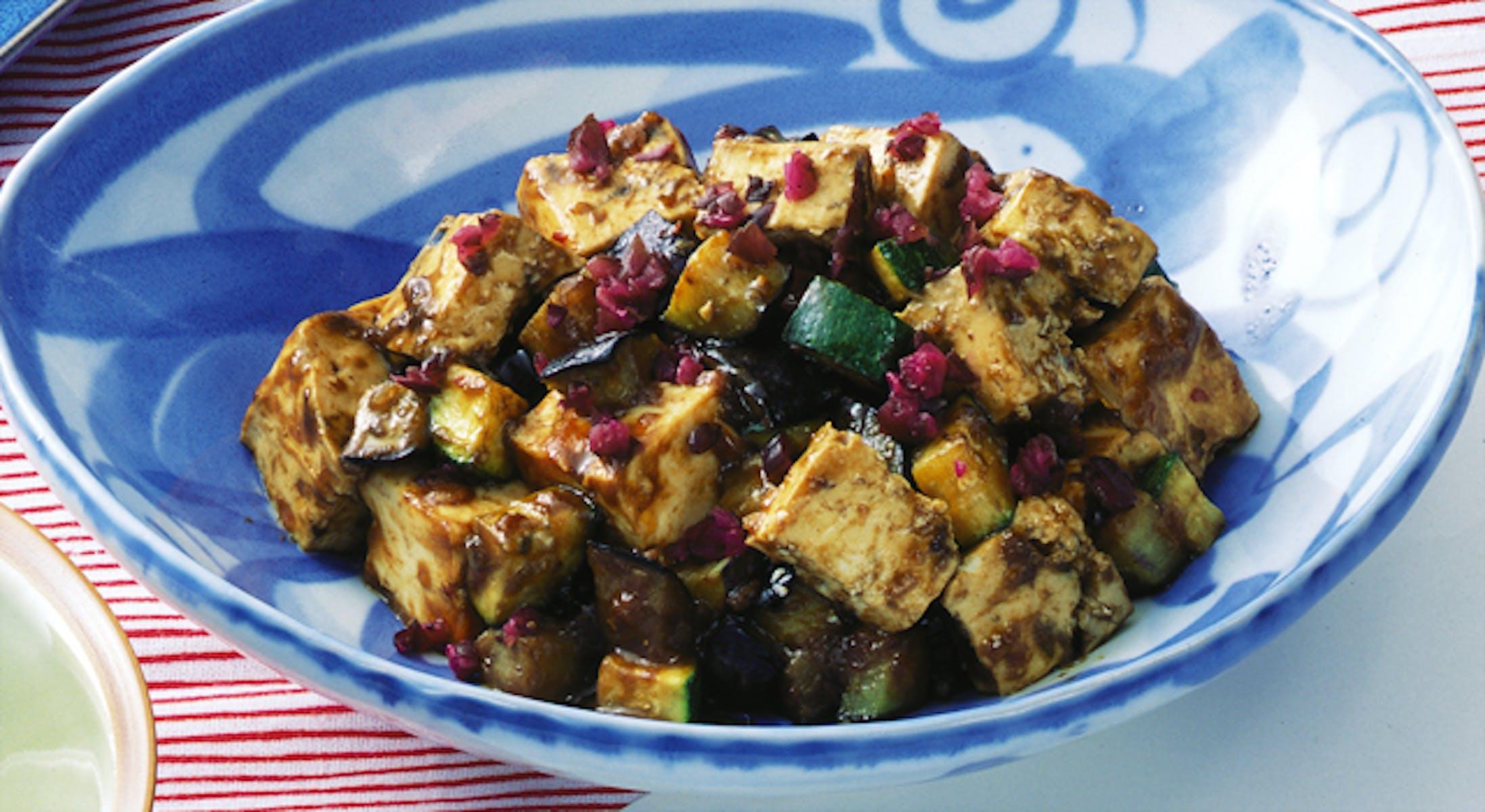 豆腐と夏野菜の炒め物