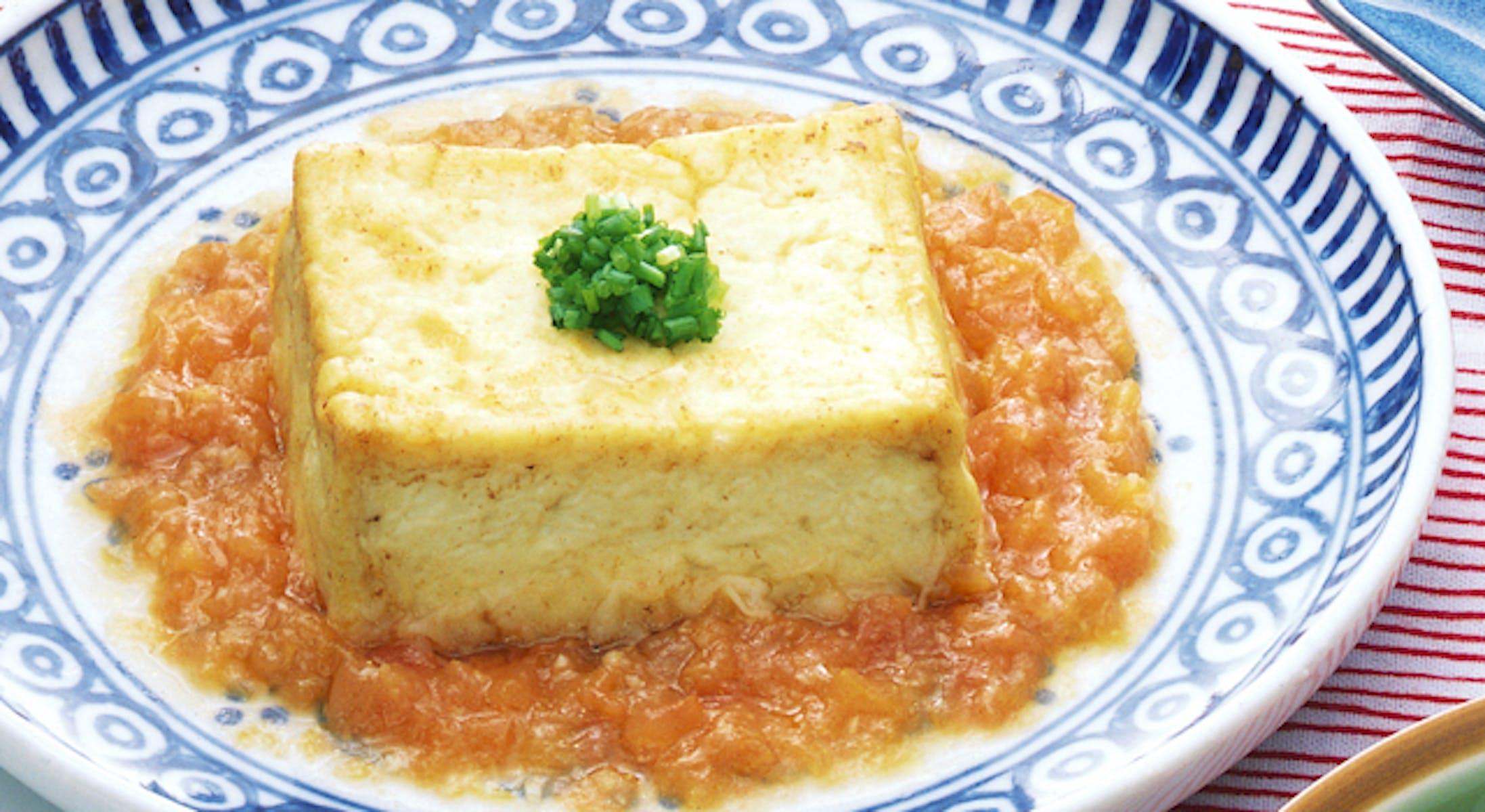 豆腐ステーキ・トマトソース添え