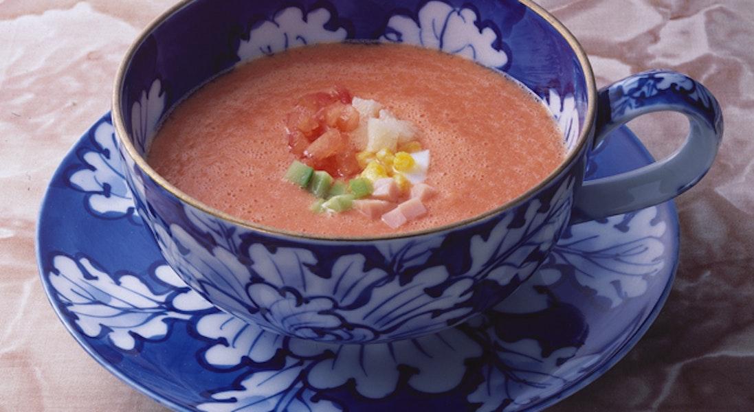 夏野菜の冷やしスープ