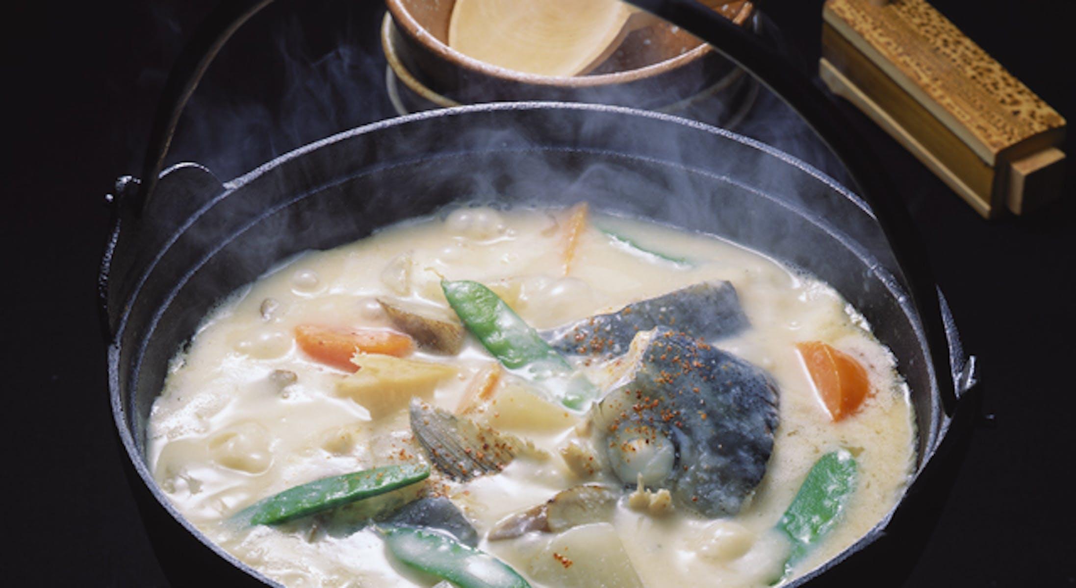 ぶりの粕煮鍋