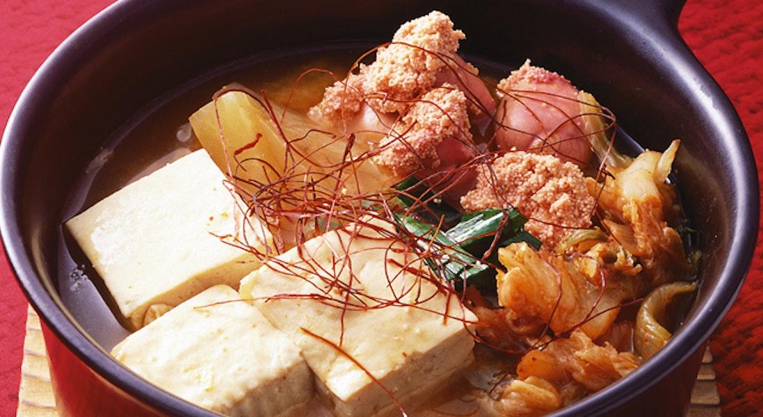 豆腐・たらこ・キムチのチゲ風