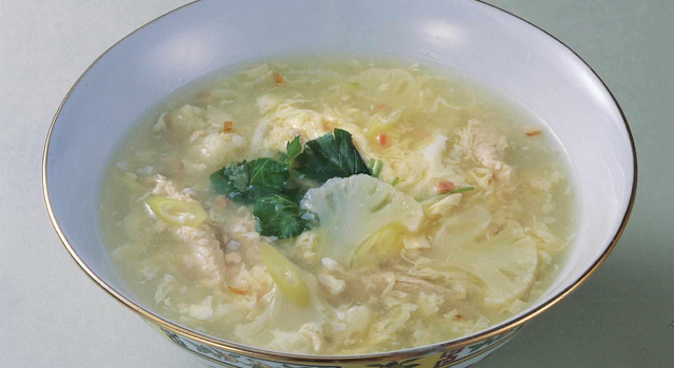 カリフラワーと鶏のスープ