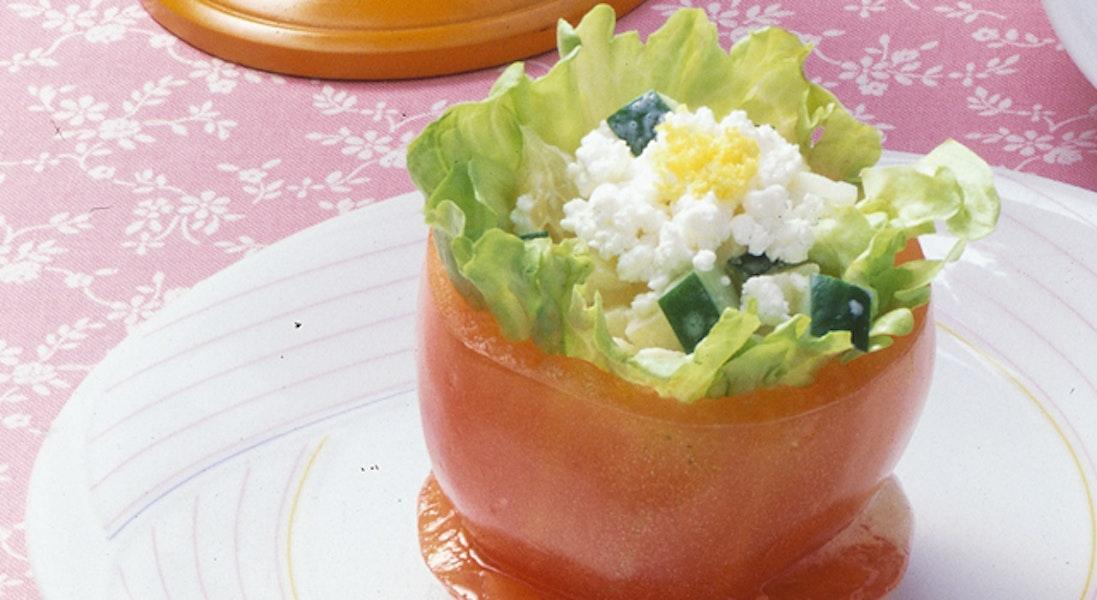 フルーツのトマトカップサラダ