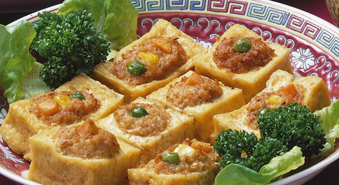 豆腐の肉詰め揚げ