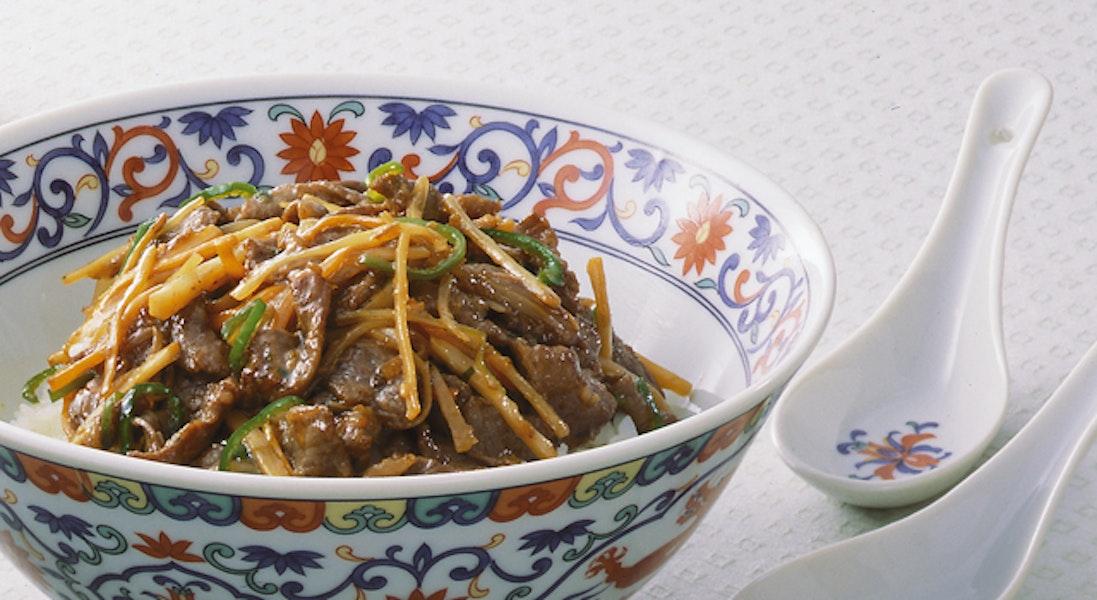中華風牛丼
