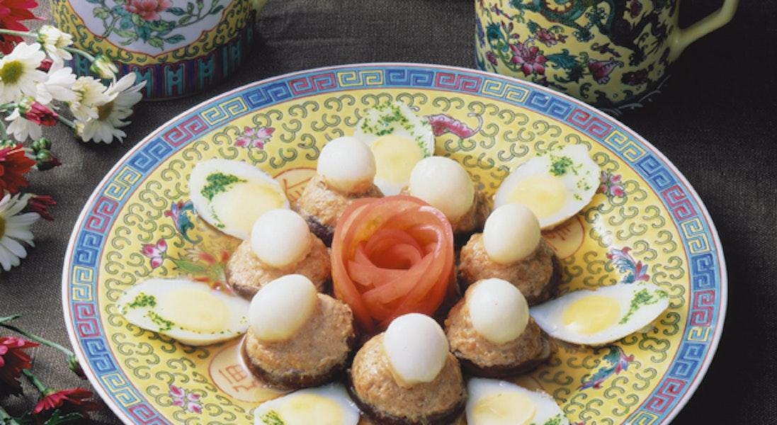 うずら卵の蒸し物