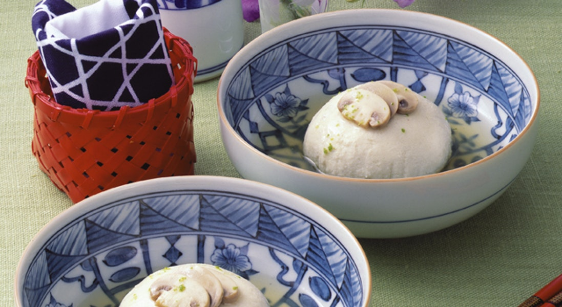 マッシュルームの豆腐まんじゅう