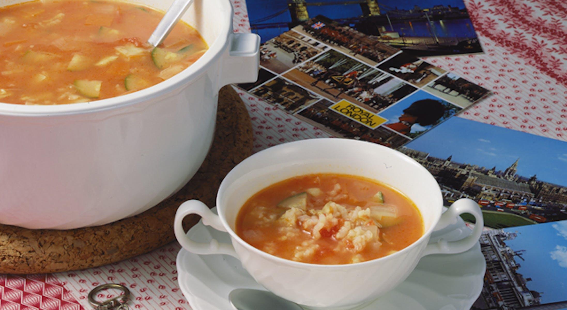ロンドン風ライススープ