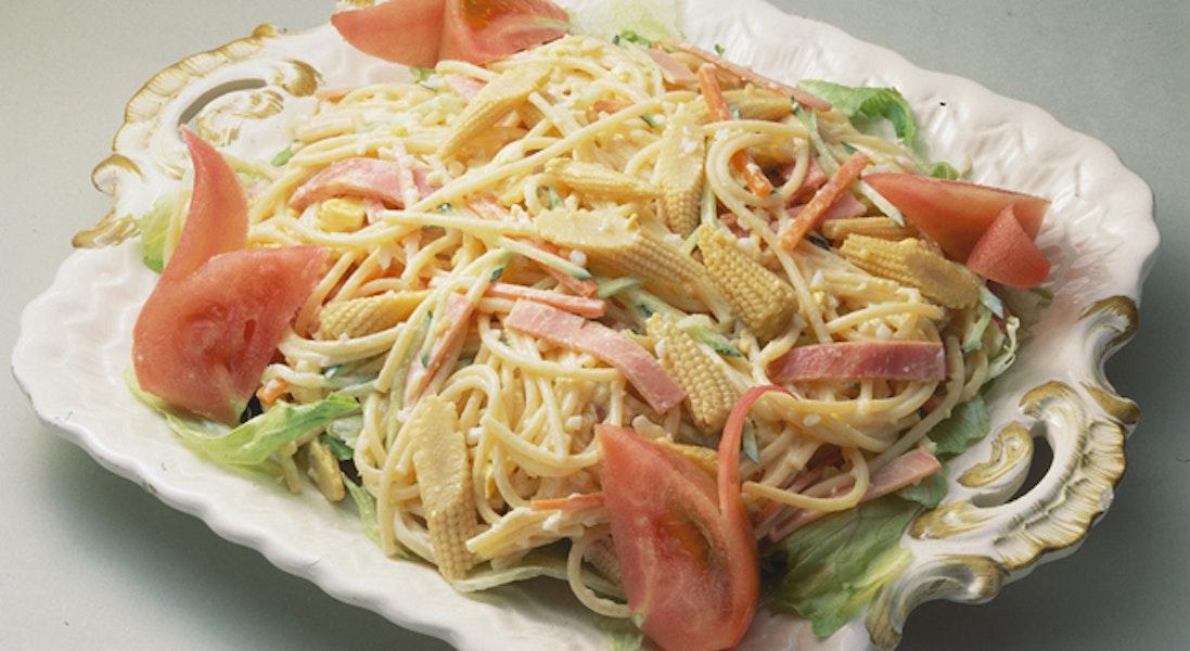 ヤングコーンのスパゲッティサラダ
