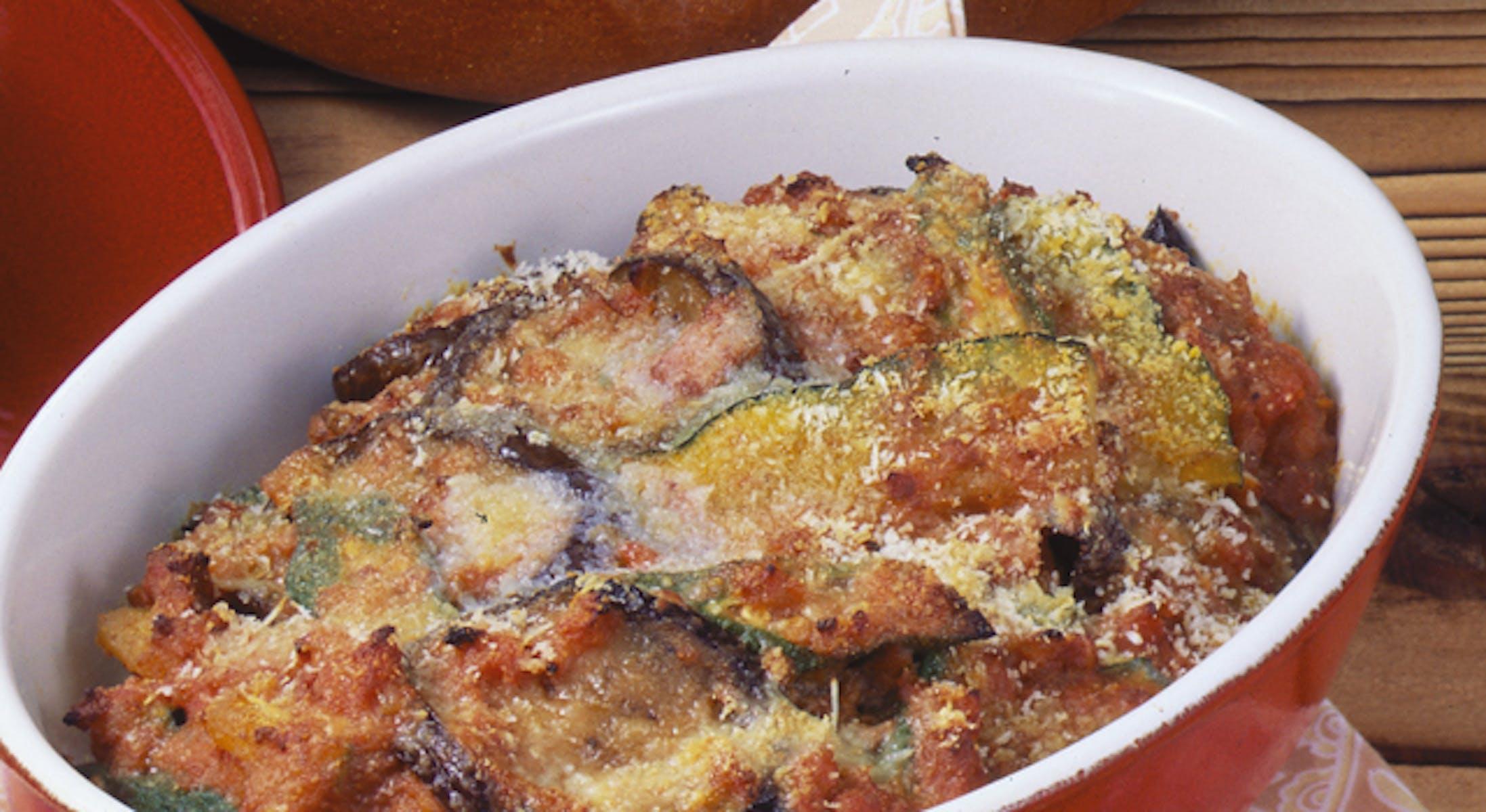 野菜のグラタンミートソース