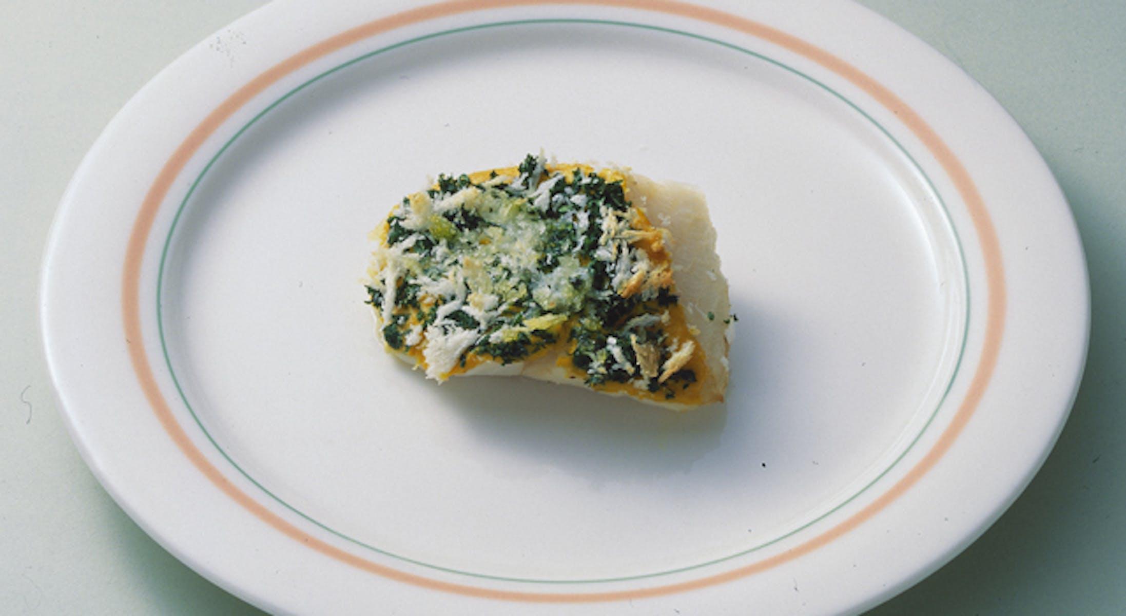 白身魚のマスタード風味焼き