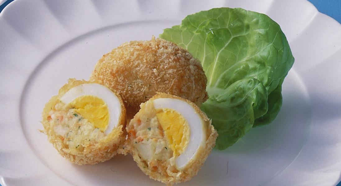 ゆで卵のコロッケ