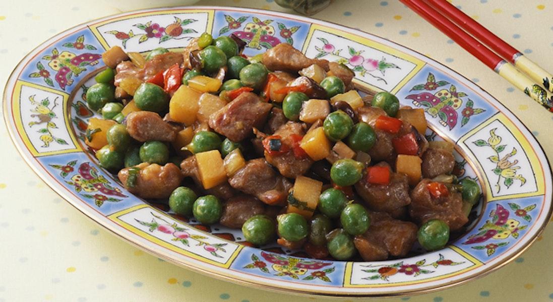 えんどう豆の四川風炒め物