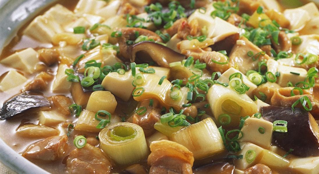 豆腐と鶏肉の炒め煮