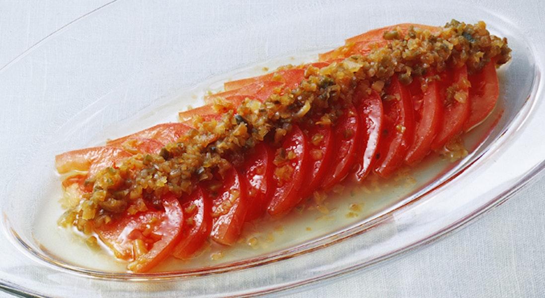 トマトとザーサイのサラダ