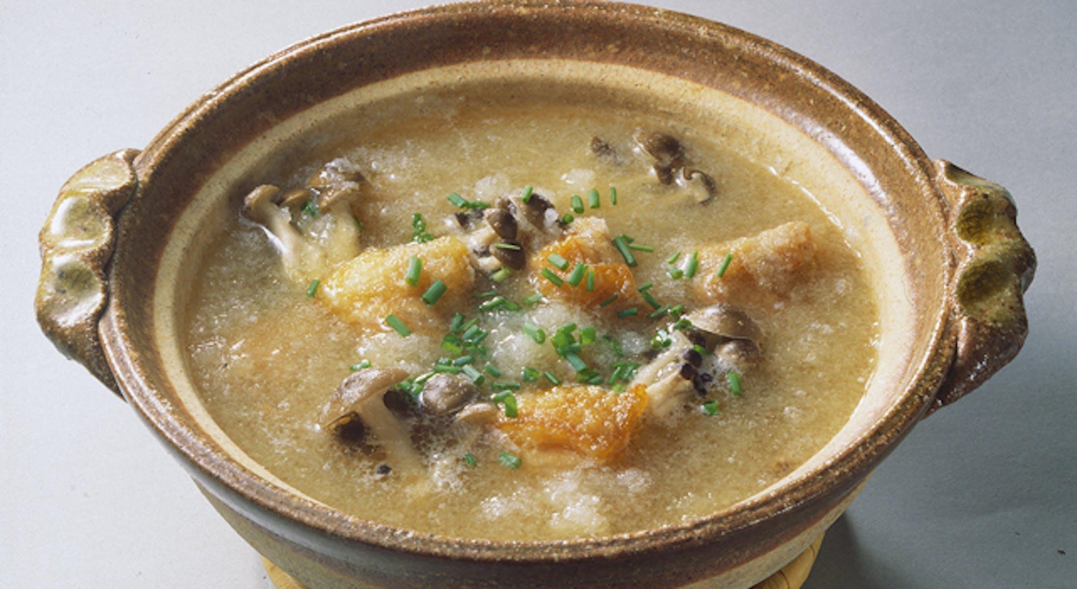 鶏唐揚げのおろし鍋