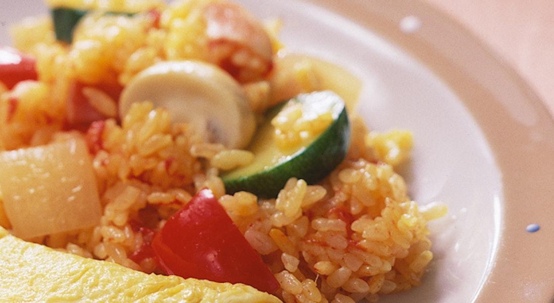 スペイン風混ぜご飯(パエリア風仕立て)