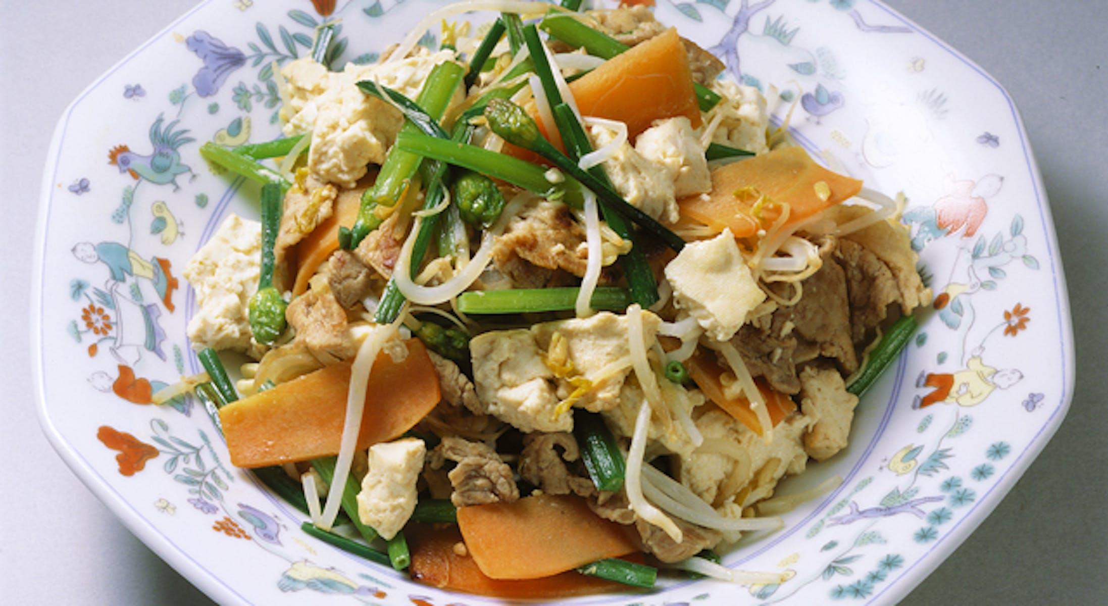 豆腐の炒め物(チャンプルー)
