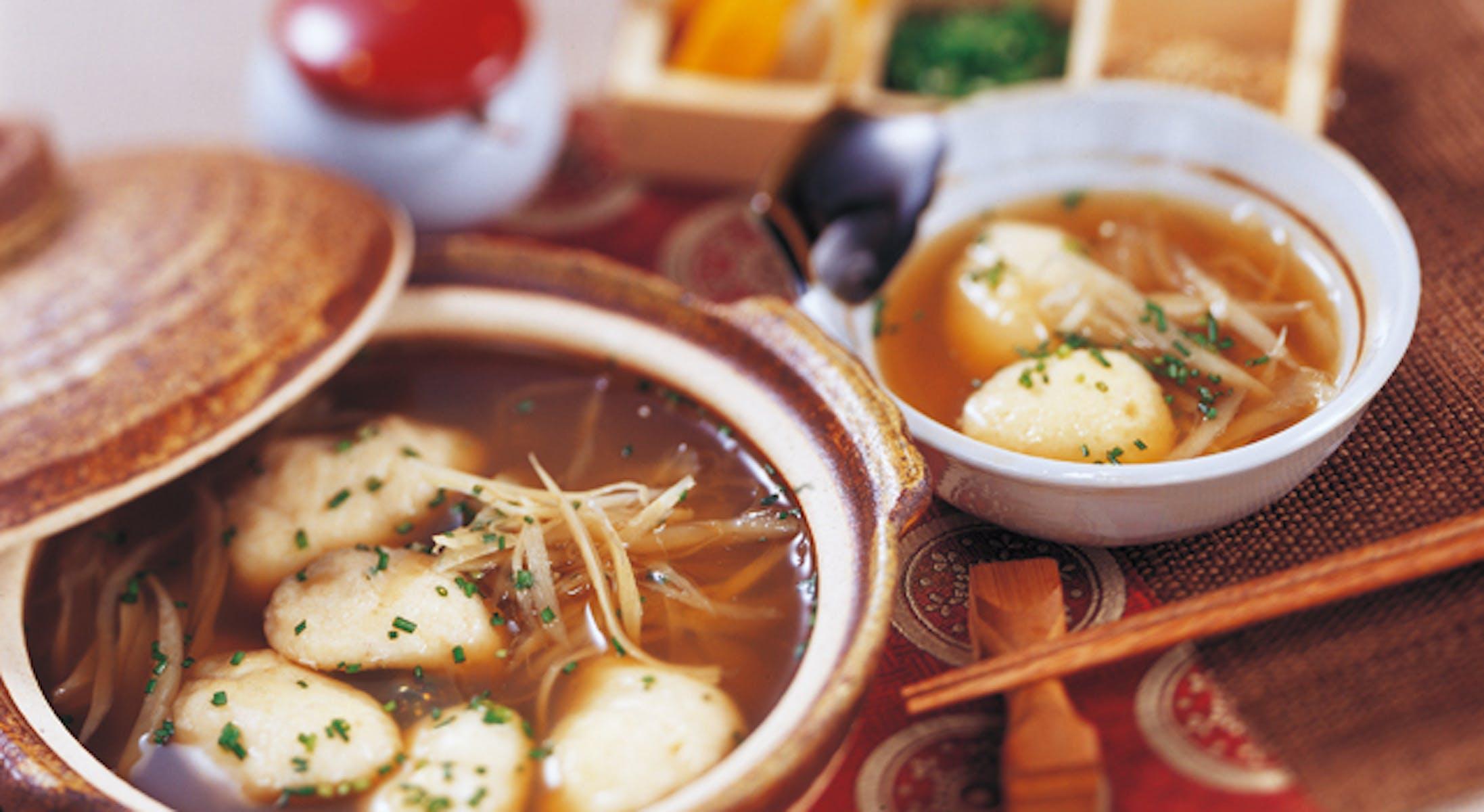 豆腐団子とごぼうの小鍋仕立て