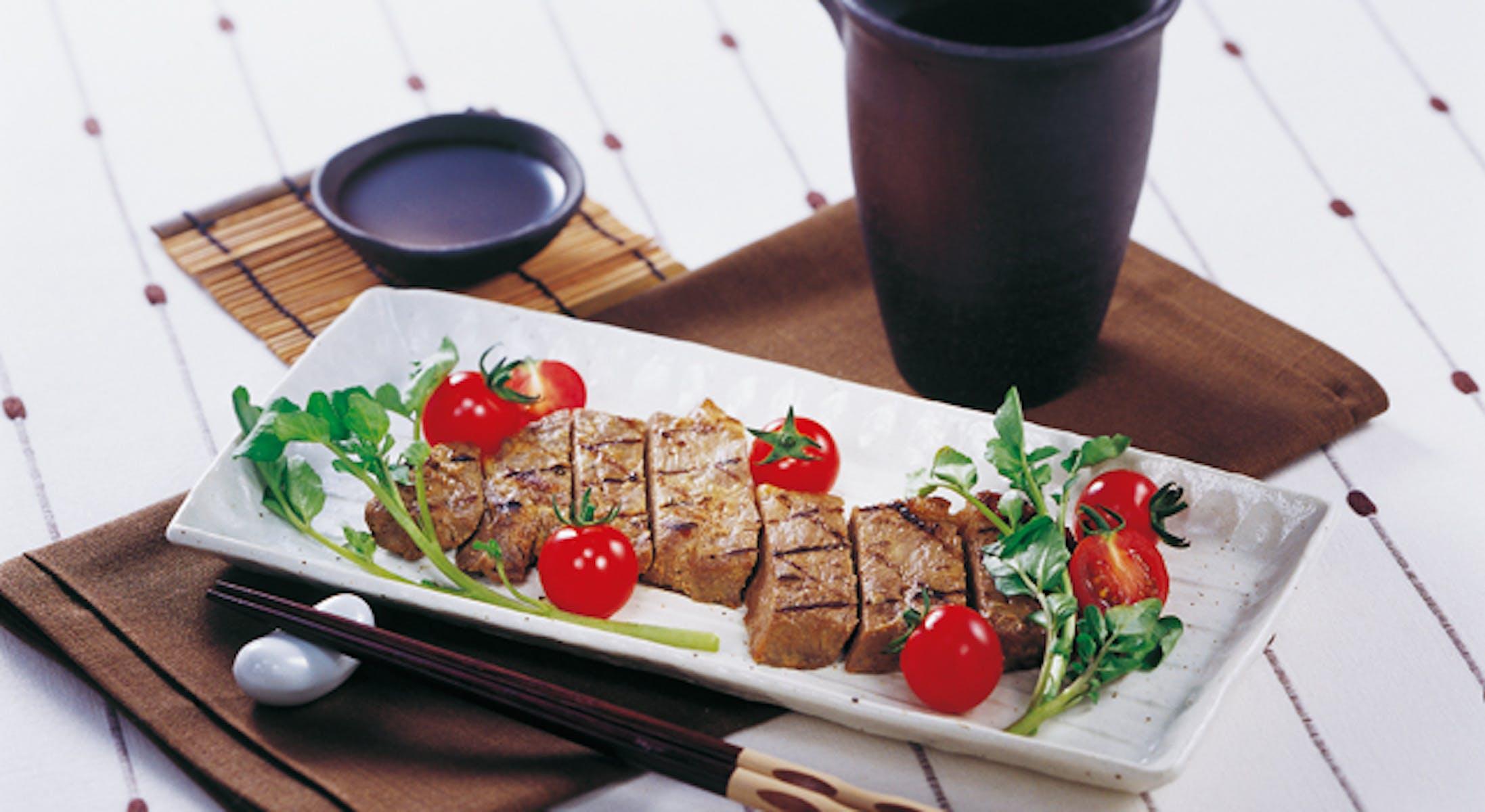 牛肉の利休風ステーキ