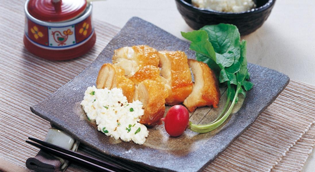 揚げ鶏の豆腐タルタル