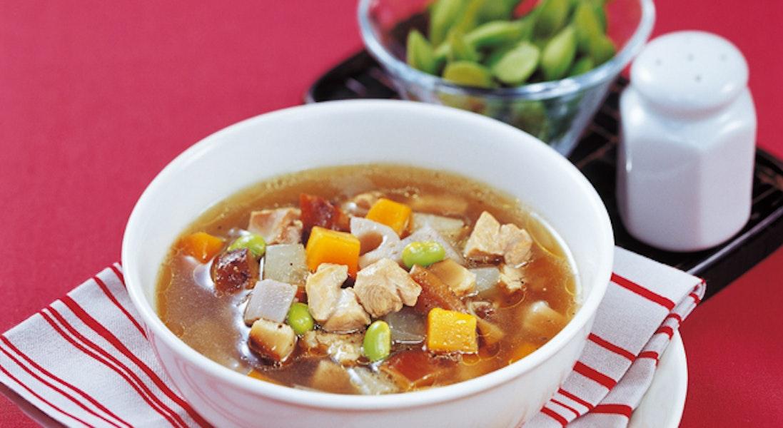 鶏の具沢山煮 スープ仕立て