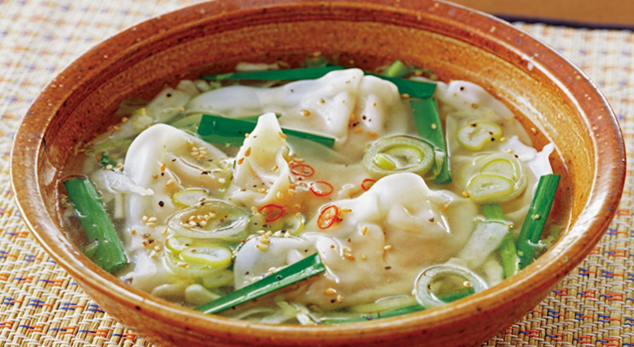 お手軽餃子スープ