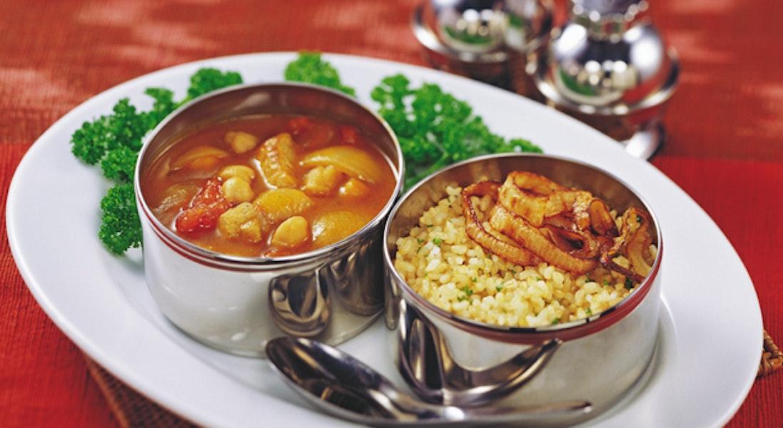 玄米ライスとひよこ豆のカレー