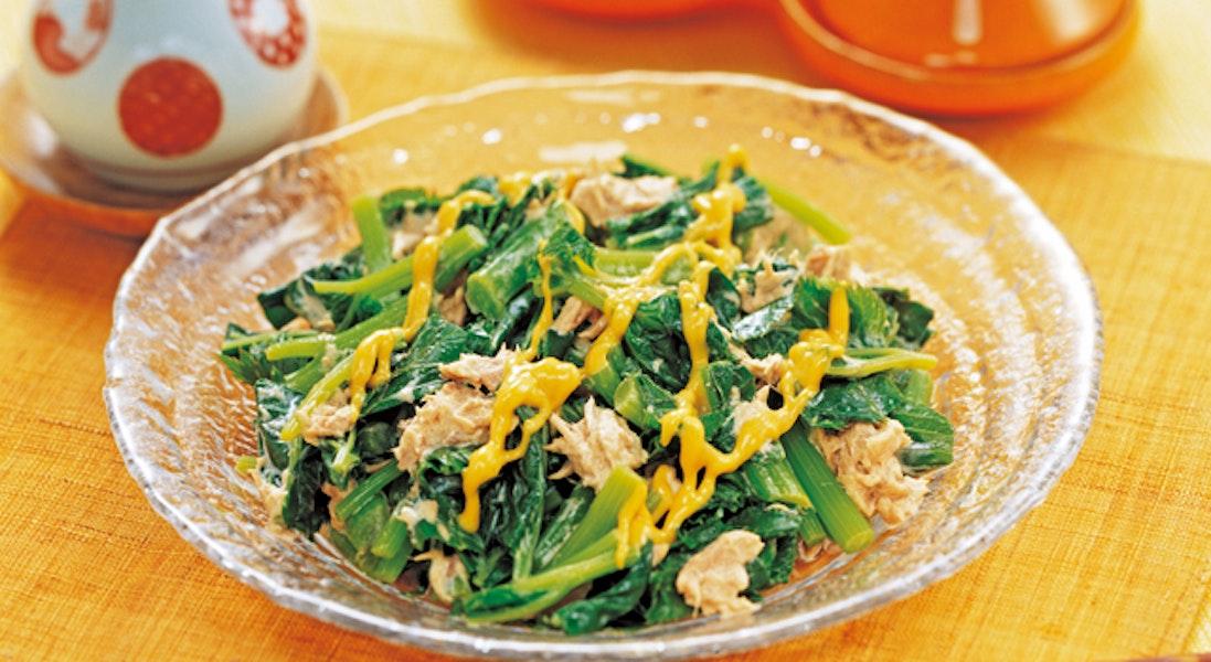 明日葉とツナのサラダ