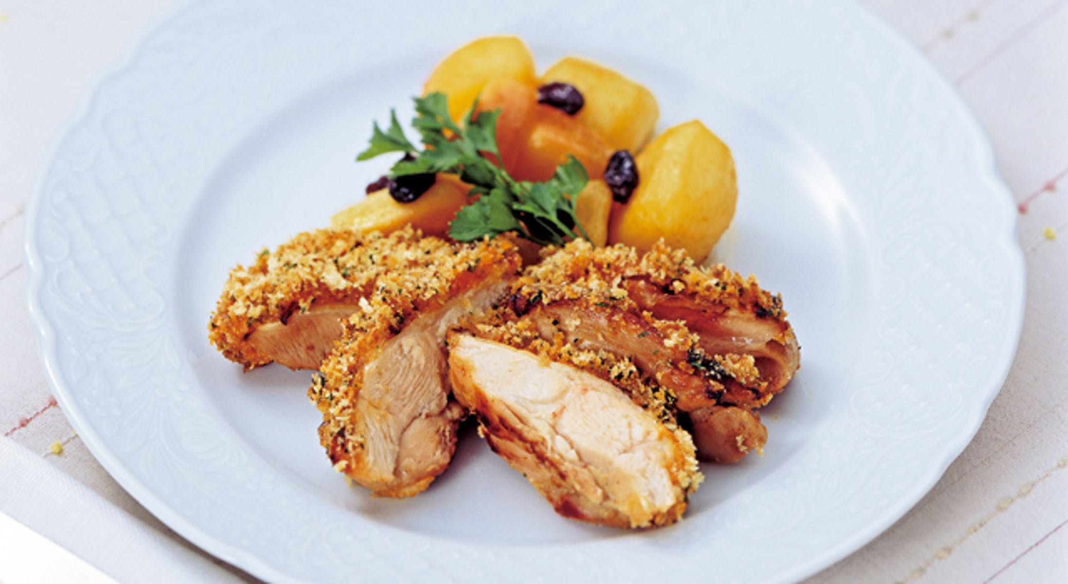 若鶏のハーブパン粉焼き・マヨネーズ風味