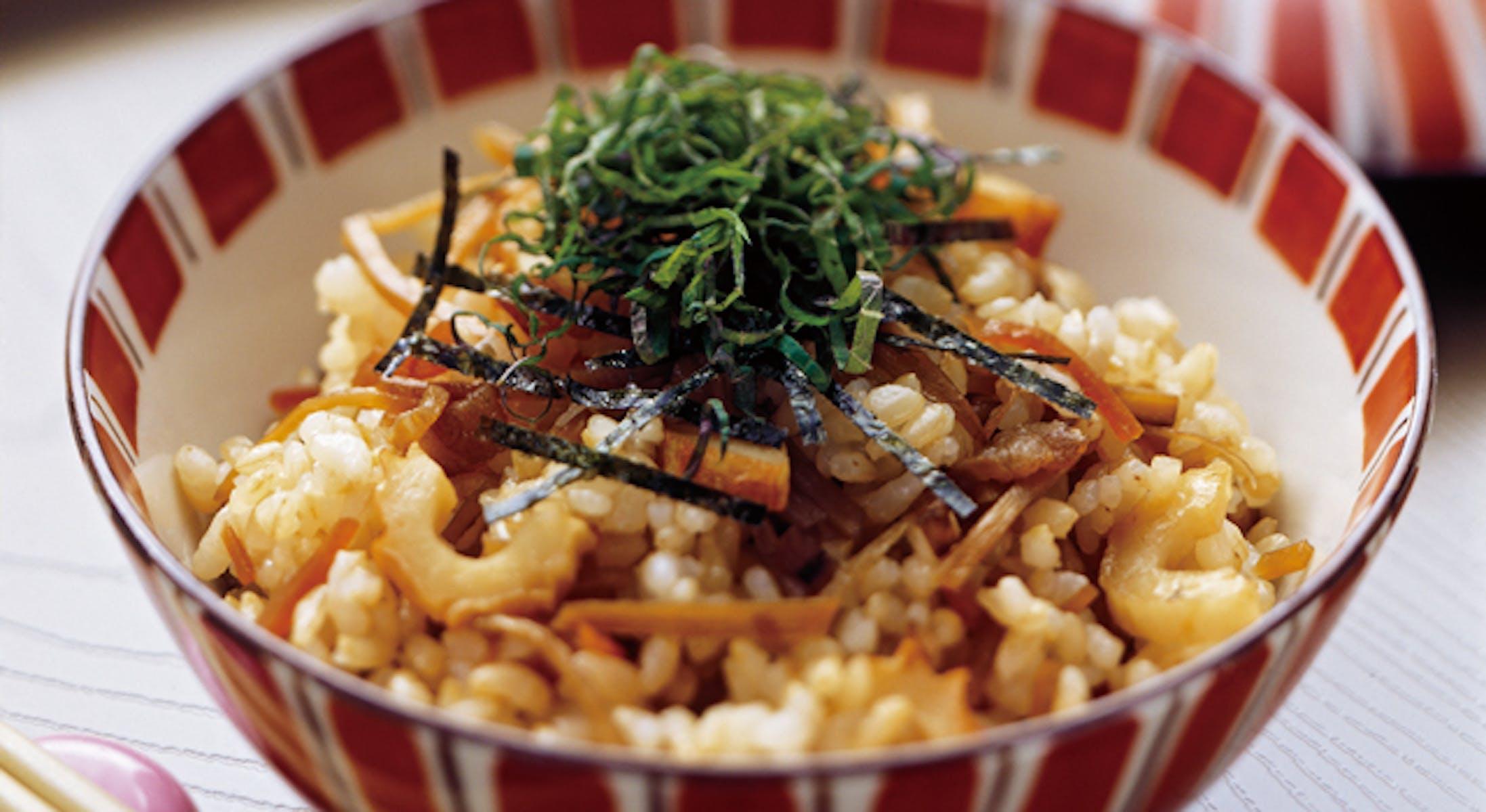 きんぴら混ぜご飯(玄米)