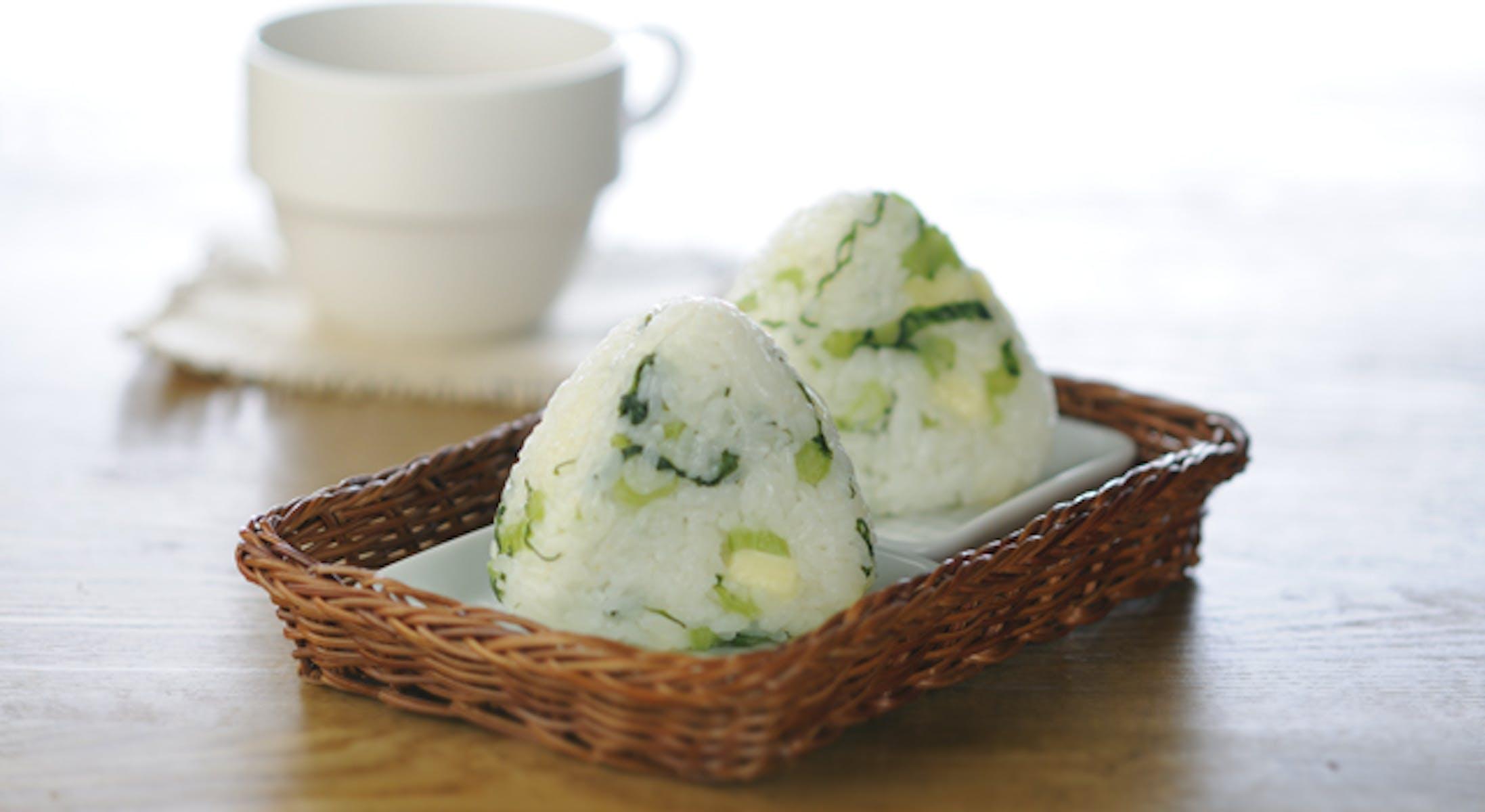 野沢菜チーズおにぎり