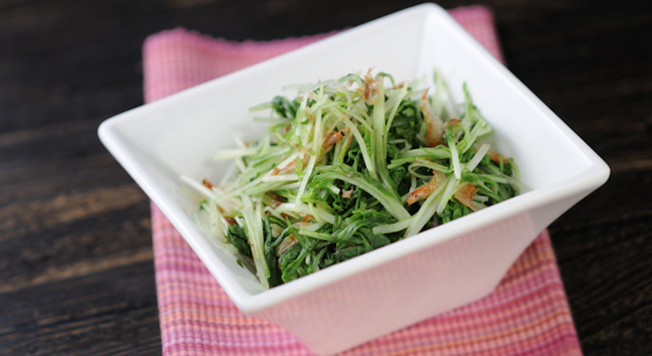 水菜と桜えびのお浸し