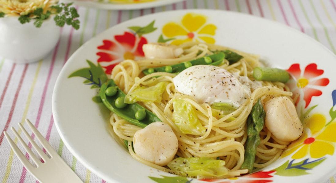 春野菜のスパゲッティ